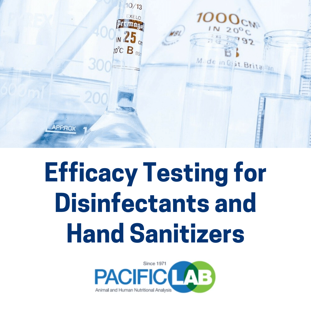 Efficacy Testing for Disinfectant and Sanitizers